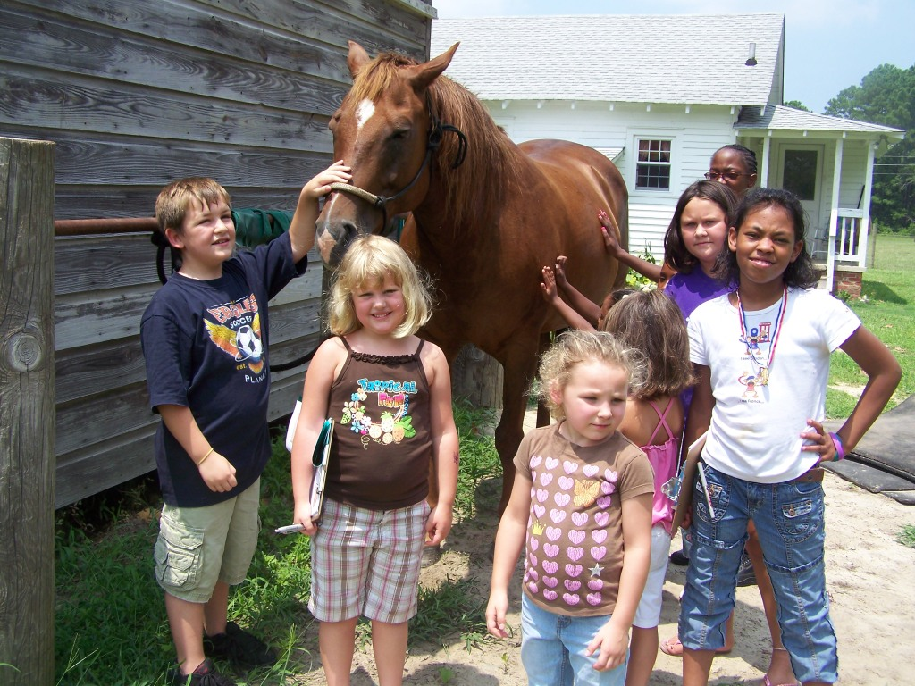 Brunswick County 4-H'ers at Pony Express July 2008