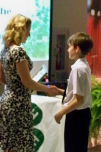 Matthew Watson received the Excellence in 4-H Award