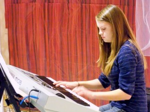 Carlyn on the Keyboard